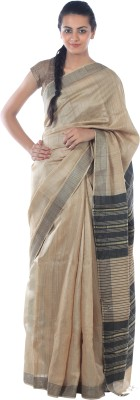 Kiara Crafts Woven Daily Wear Tussar Silk Sari