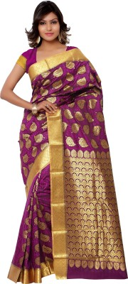 Like a diva Self Design Fashion Silk Sari