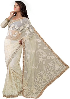 Swgopi Plain Fashion Net Sari