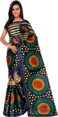 Saileela Creation Printed Assam Silk Silk Sari