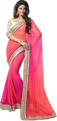 Dhanu Fashion Solid Bollywood Georgette Sari