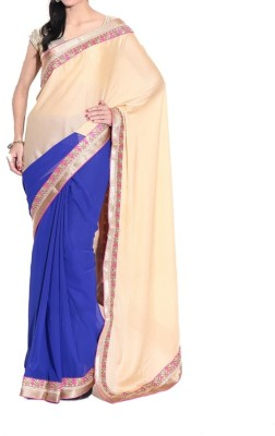 Parmar Design Self Design Bollywood Merino Wool Sari