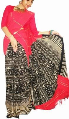 ZORIA Houndstooth Katha Cotton Sari