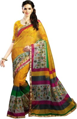 Mutiar Printed Fashion Handloom Cotton Sari