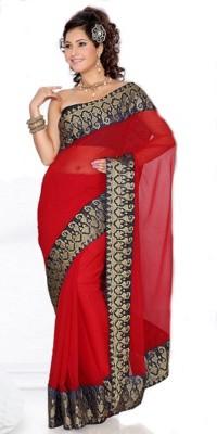 MGS Embellished Fashion Chiffon Sari