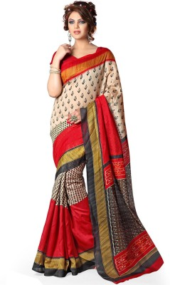 Styloshopper Printed Fashion Art Silk Sari