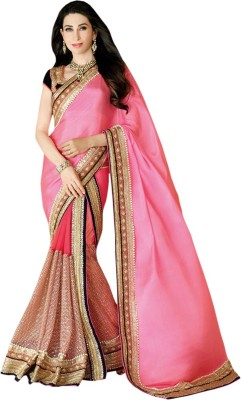 Kmozi Embriodered Fashion Art Silk Sari