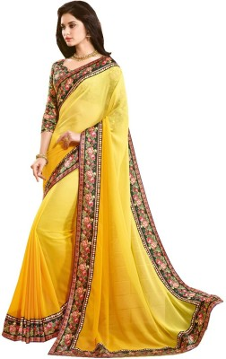 JJR Embriodered Fashion Georgette Sari