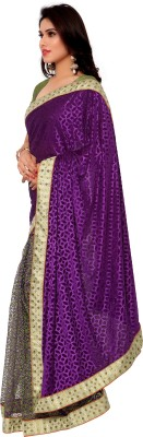 Gunjan Creation Self Design Lehenga Saree Viscose Sari