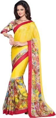 SSD Printed Fashion Satin Sari