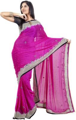 Celebez Embriodered Fashion Handloom Chiffon Sari