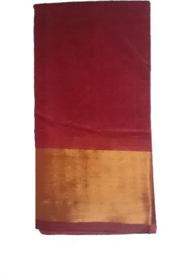 Aanaya Fashions Plain Fashion Silk Cotton Blend Sari