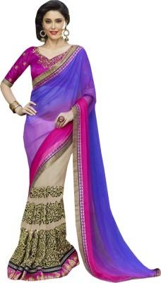 Navya Fashion Embriodered Fashion Georgette Sari