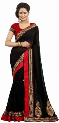 Anshika Lifestyle Embellished Fashion Chiffon Sari
