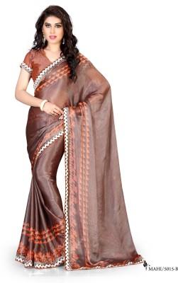 Snreks Collection Printed Fashion Brasso Fabric Sari