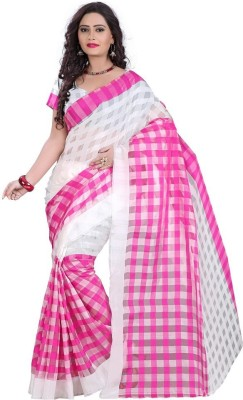 Thelibazz Self Design Kota Doria Cotton Sari