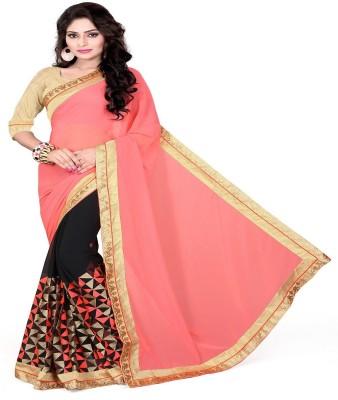 Omkarcreation Embriodered Bollywood Chiffon Sari