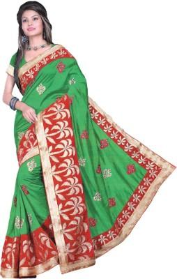 Gulmohar Boutique Solid Fashion Dupion Silk Sari