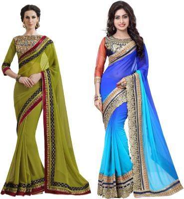 Ujjwal Creation Embriodered Fashion Georgette Sari