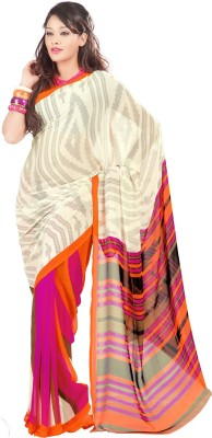 Admyrin Striped Fashion Georgette Sari