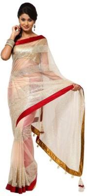 Krishna Emporia Self Design Bollywood Net Sari