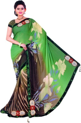 Shree G Art Printed Fashion Georgette Sari
