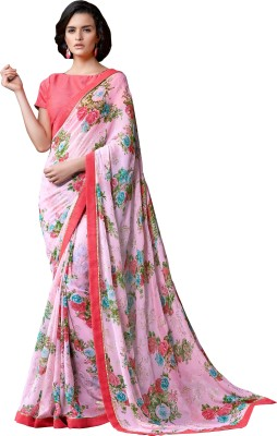 Nanda Silk Mills Printed Fashion Pure Georgette Sari