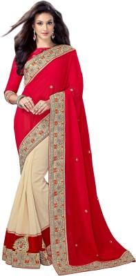 Occeanus Embellished Fashion Georgette Sari