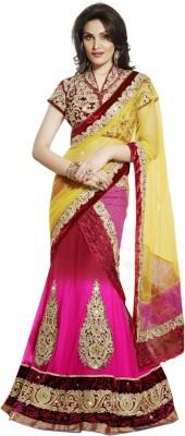 Triveni Self Design Fashion Chiffon, Net, Satin Sari at flipkart