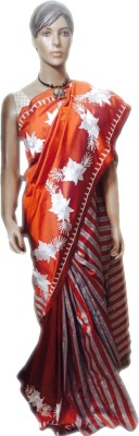 VanshikasCollections Self Design Phulkari Raw Silk Sari