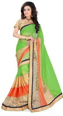 FemaleFashion Self Design Fashion Lycra Sari