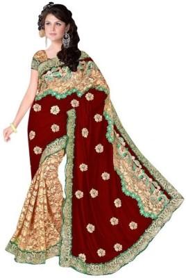 Suchi Fashion Self Design Fashion Velvet, Net Sari