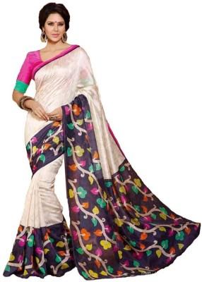 Textilebaba Printed Bhagalpuri Silk Sari