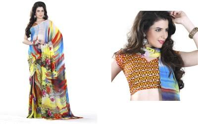 Morpankh Enterprise Plain Fashion Georgette Sari