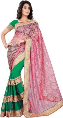SK Embriodered Bollywood Chiffon Sari