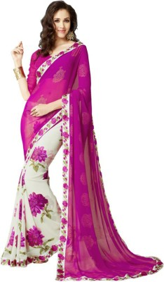 KamaniGarment Floral Print Daily Wear Georgette Sari