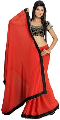 Hari Krishna sarees Self Design Bollywood Handloom Chiffon Sari
