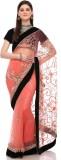 Sisel Embroidered Fashion Net Sari (Mult...