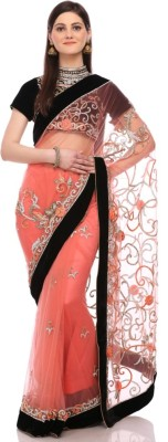 Sisel Embriodered Fashion Net Sari