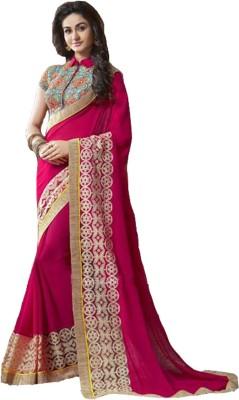 Styloce Self Design Bollywood Georgette Sari