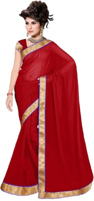 Reena Creation Plain Fashion Georgette Sari