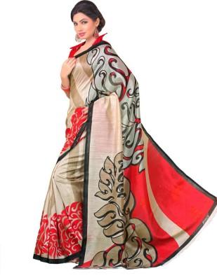 Ethnic Andaaz Floral Print, Self Design Fashion Art Silk Sari
