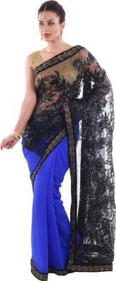 Aumkar Embellished Fashion Net, Georgette Sari