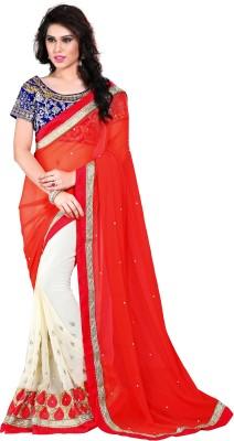 Womanethnicwear Embriodered Fashion Georgette Sari