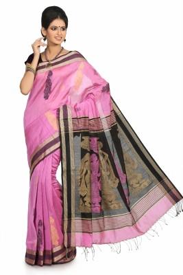 Crochetin Self Design Fashion Handloom Viscose Sari