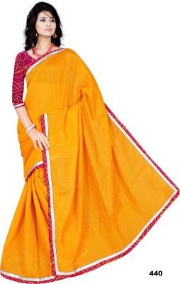 shobhit Self Design Bollywood Raw Silk Sari