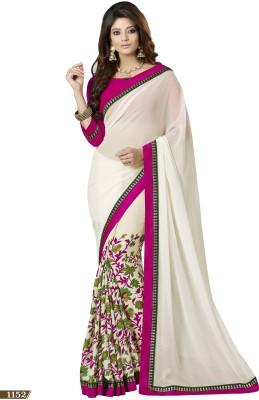 Archishmathi Floral Print Bollywood Georgette Sari