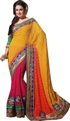Snehaa Fashion World Self Design Fashion Viscose Sari