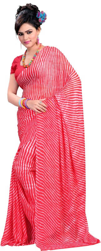 Aryahi Printed Daily Wear Chiffon Saree(Red)