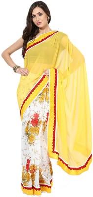 ambey shree trendz Self Design Gajee Georgette Sari